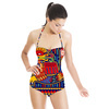 Vector Mexican Pattern With Dragon (Swimsuit)