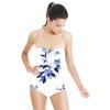 Pale Blue Watercolour Floral (Swimsuit)