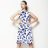 Indigo Marker Doodle (Dress)