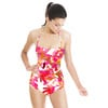 SS17 Graphic Flora Pink Painted Floral Vector (Swimsuit)