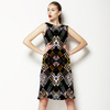 Tribal Marks Colors on Black Mirrored (Dress)