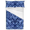 Blue Cao Floral Mirrored Pattern (Bed)