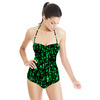 Abstract Camouflage Texture Textile Pattern (Swimsuit)