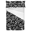 Black and White Tropical Ikat (Bed)