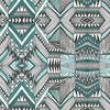 Geometric Native Black Green Pattern (Original)