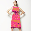 Pink Geometric Tribal Stripe (Dress)