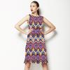 Colorful Ikat Medallion Stripes (Dress)