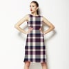 Aubergine Check (Dress)