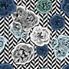 Flowers on Geometric Background. (Original)
