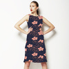 Coral Floral Dot Repeat (Dress)