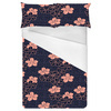 Coral Floral Dot Repeat (Bed)