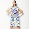 SS17 Souk Blue Flora Vector (Dress)