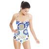SS17 Souk Blue Flora Vector (Swimsuit)