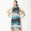 Mountains Sky Mist Nature Pattern (Dress)
