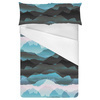 Mountains Sky Mist Nature Pattern (Bed)