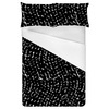 Black and White Abstract Seamless Textile Pattern (Bed)