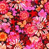 AW1617 Midnight Garden Red Floral Vector (Original)
