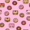Doughnuts & Kawaii Cats (Original)