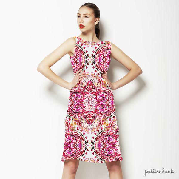 Pink Damask Paisley